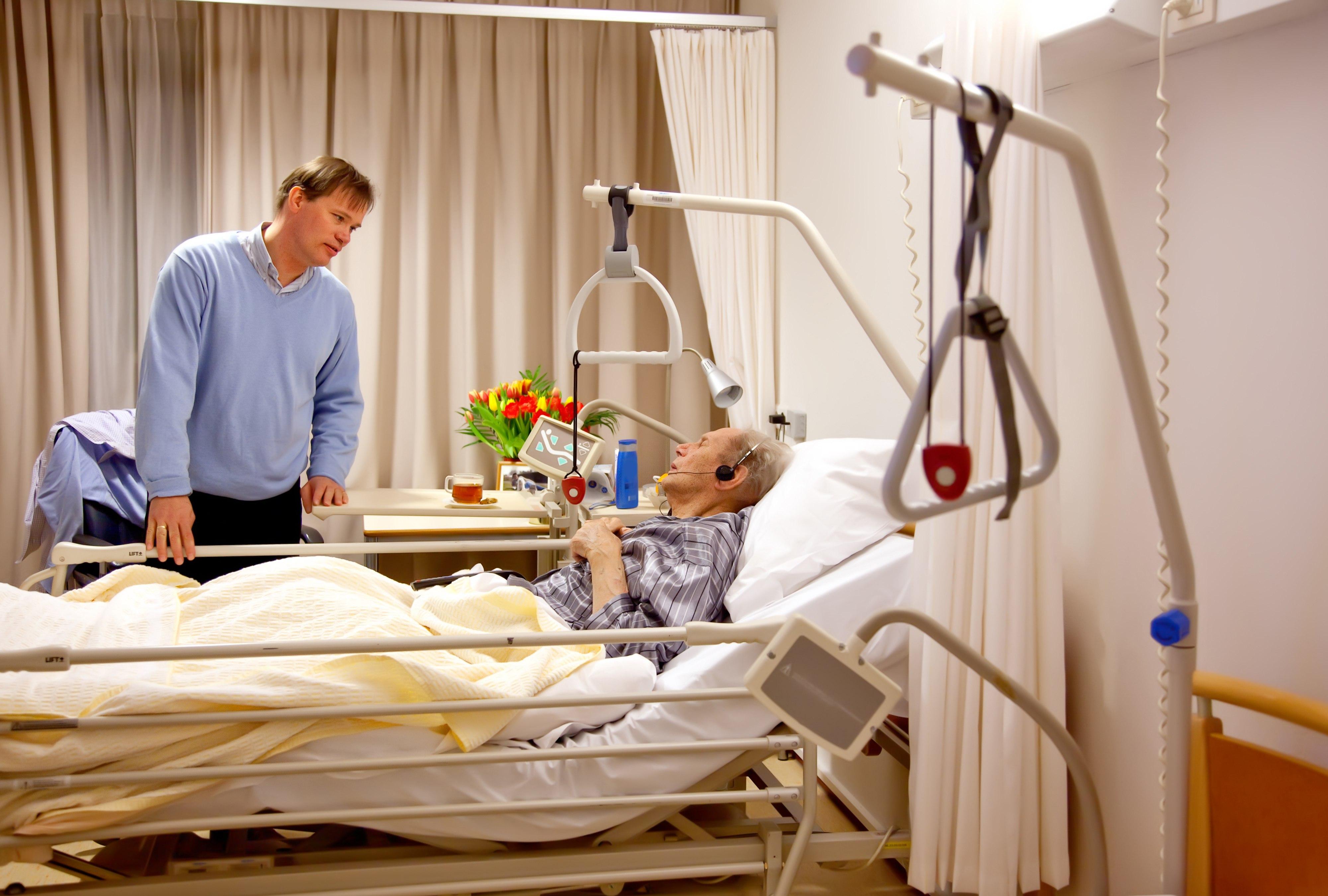 łózka dla chorych